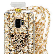 Handmade Cheetah Gold Bling Bottle Samsung S9 Plus