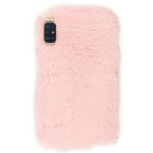 Fur Case Light Pink Samsung A51