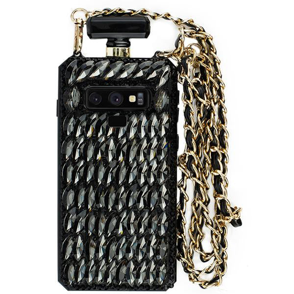 Handmade Bling Black Bottle Case Samsung Note 9