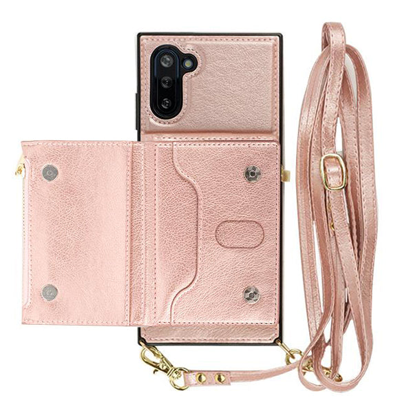 Crossbody Pouch Rose Gold Case Samsung Note 10 Plus