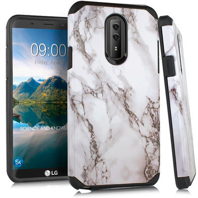 Marble White Case Lg Stylo 4 - Bling Cases.com