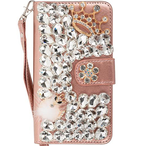 Handmade Fox Bling Wallet Detachable Samsung S9