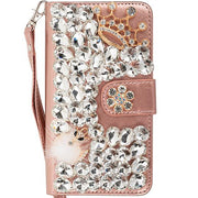 Handmade Detachable Bling Fox Rose Gold Wallet Iphone 11 Pro
