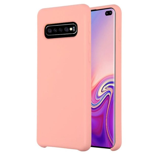 Silicone Skin Light Pink Samsung S10 Plus - Bling Cases.com