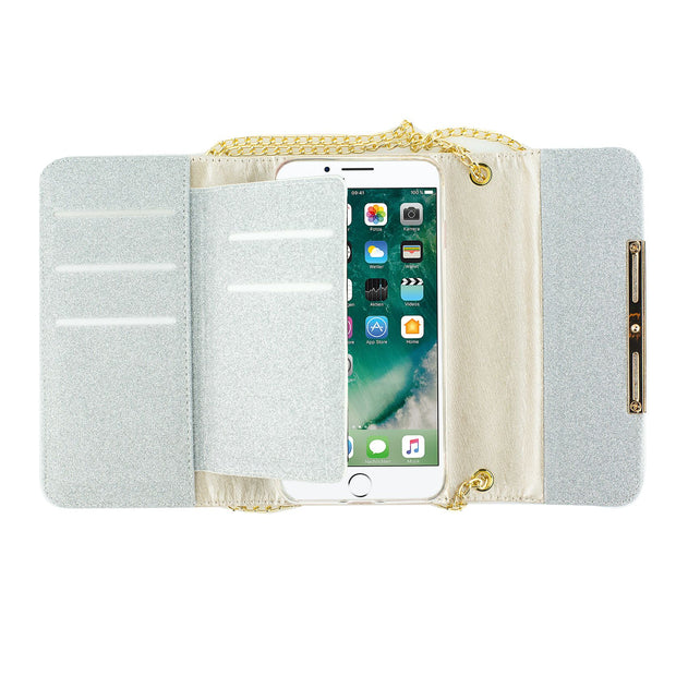 Detachable Purse Silver Iphone 7/8 Plus - Bling Cases.com