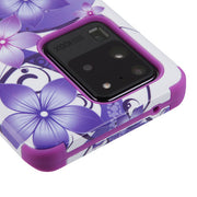 Purple Flowers Military Grade Hybrid Case Samsung S20 Ultra