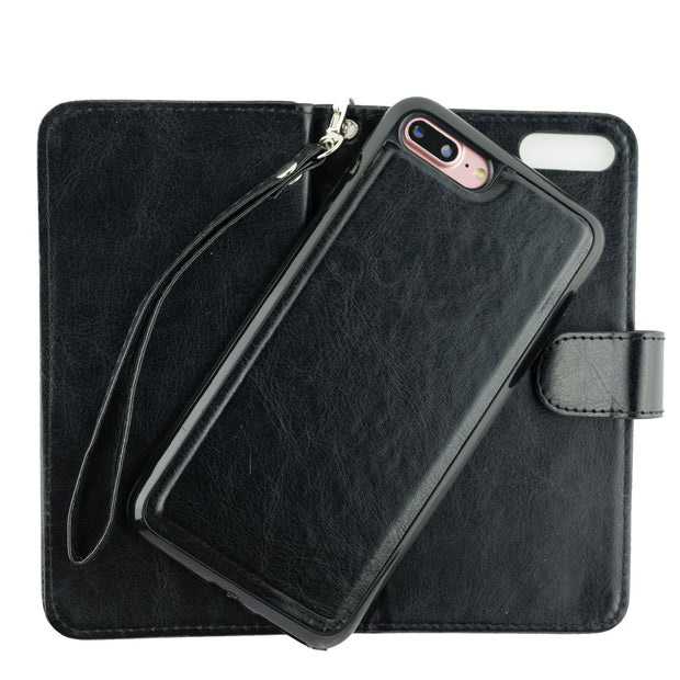 Bling Detachable Black Wallet Case Iphone 7/8 Plus - Bling Cases.com