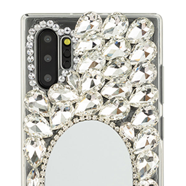 Handmade Mirror Silver Case Samsung Note 10 Plus