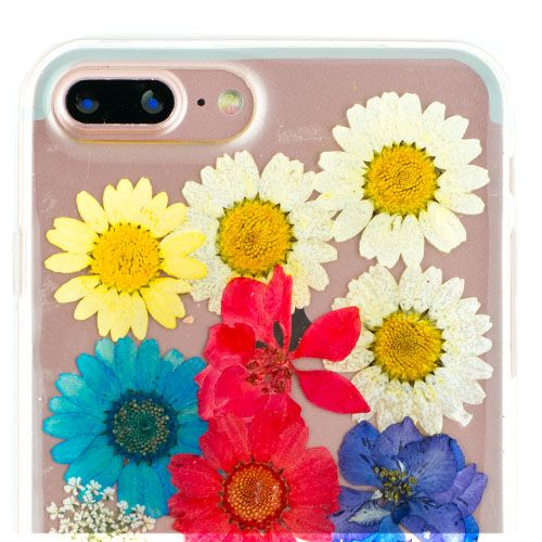 Real Flowers Rainbow Iphone 7/8 Plus - Bling Cases.com