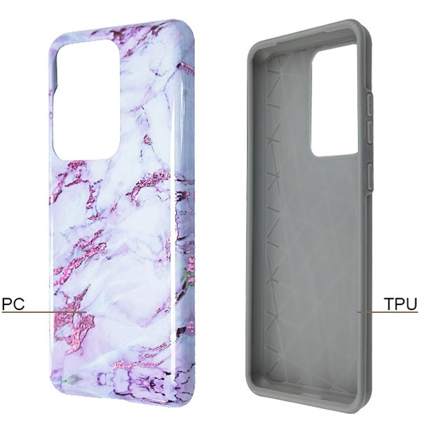 Purple Grey Marble Case Samsung S20 Ultra