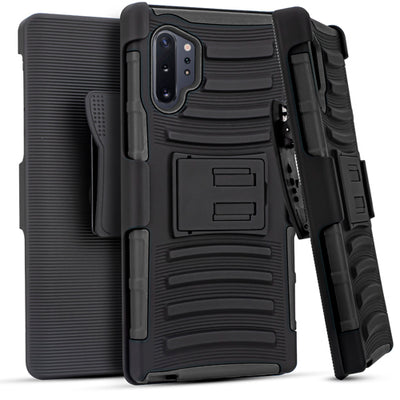 Holster Case Combo Black  Note 10 Plus - Bling Cases.com