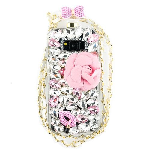 Handmade Bling Flowers Bottle Case Samsung S8 Plus - Bling Cases.com