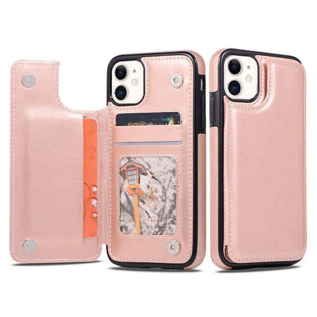 Back Book Card Case Rose Gold Iphone 11 - Bling Cases.com