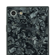 Marble Pearl Black Square Case Iphone 7/8