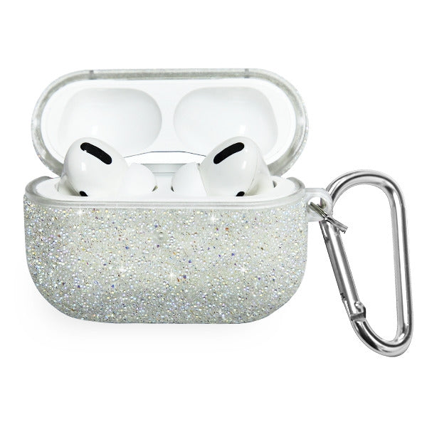 Glitter Bling Silver Airpods Pro - Bling Cases.com