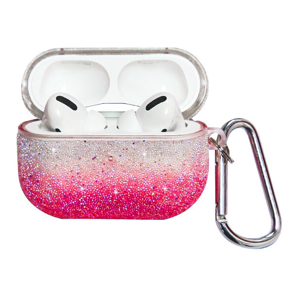 Glitter Bling Pink Fade Airpods Pro - Bling Cases.com