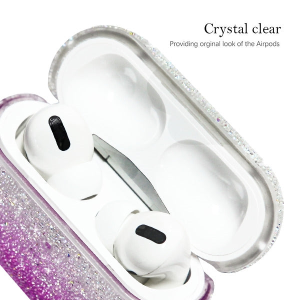 Glitter Bling Purple Fade Airpods Pro - Bling Cases.com