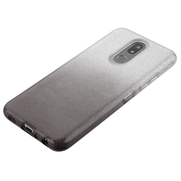Glitter Black Silver Case LG K40 - Bling Cases.com