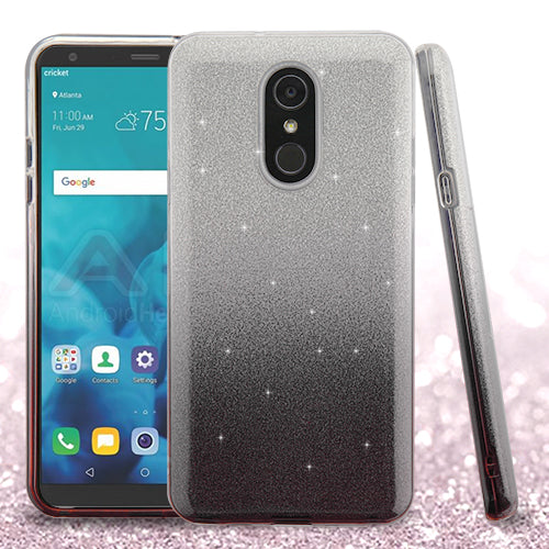 Glitter Black Silver Case Lg Stylo 4 - Bling Cases.com