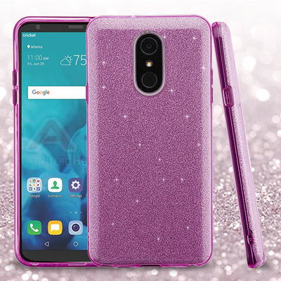 Glitter Purple Lg Stylo 4 - Bling Cases.com