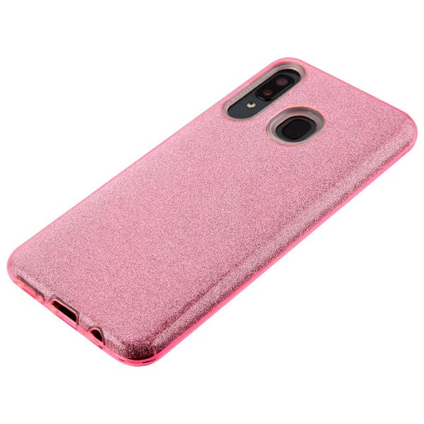 Glitter Pink Case Samsung A20/50 - Bling Cases.com