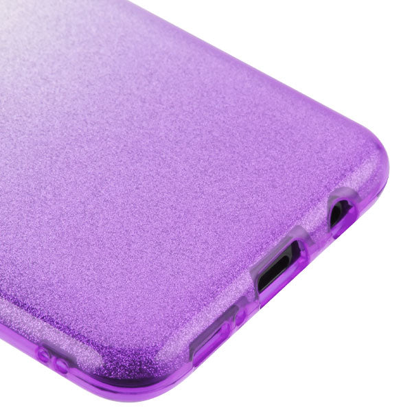 Glitter Purple Silver Case Samsung A20/50 - Bling Cases.com
