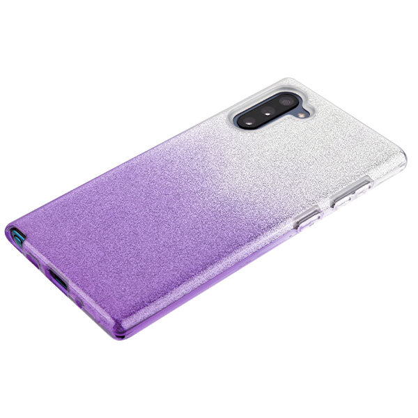 Glitter Purple Silver Case Samsung Note 10 - Bling Cases.com