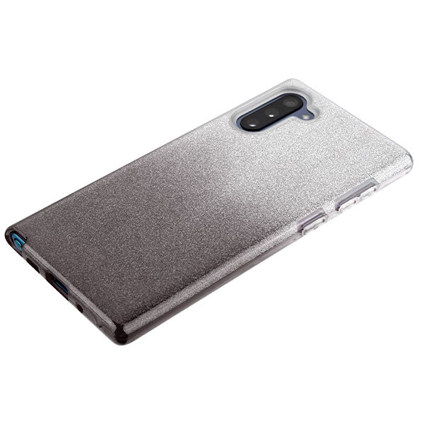 Glitter Black Silver Case Samsung Note 10 - Bling Cases.com