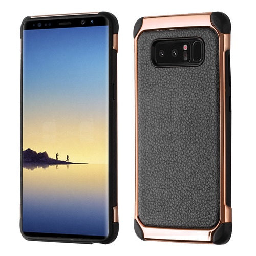 Chrome Black Rose Gold Case Samsung Note 8 - Bling Cases.com