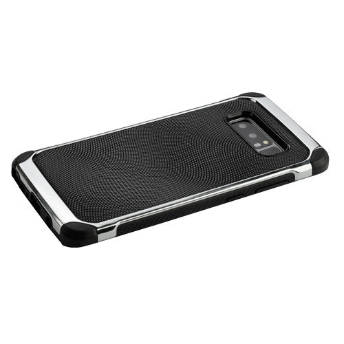 Black Chrome Silver Case Samsung Note 8 - Bling Cases.com