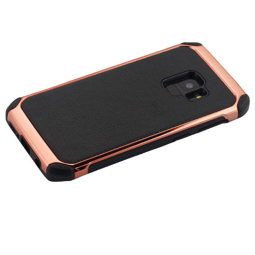 Hybrid Chrome Rose Gold Black Case Samsung S9 - Bling Cases.com