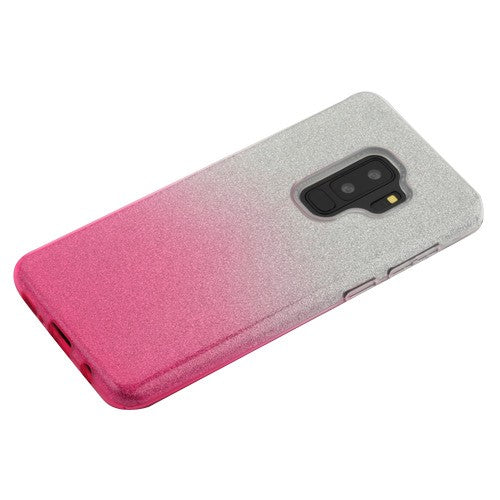 Glitter Pink Silver Case Samsung S9 Plus - Bling Cases.com