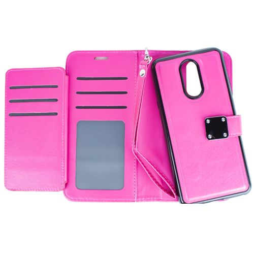 Detachable Wallet Hot Pink Lg Stylo 4 - Bling Cases.com