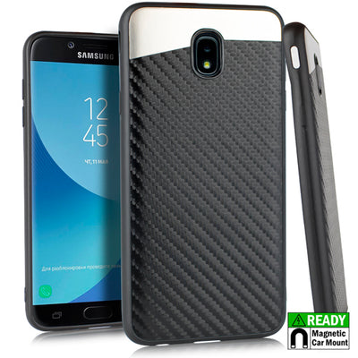 Slim Carbon Black Case J3 2018 - Bling Cases.com