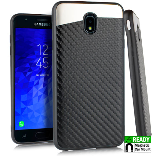 Slim Carbon Black Case J7 2018 - Bling Cases.com