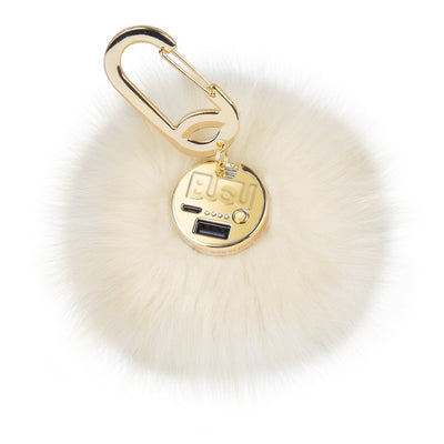Furry Ball Charger White - Bling Cases.com