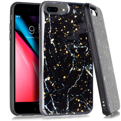 Marble Flake Black Iphone  6/7/8 Plus - Bling Cases.com