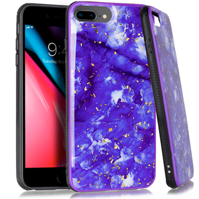 Marble Flake Purple Iphone  6/7/8 Plus - Bling Cases.com