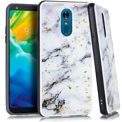 Marble White Flake Case Lg Stylo 4 - Bling Cases.com