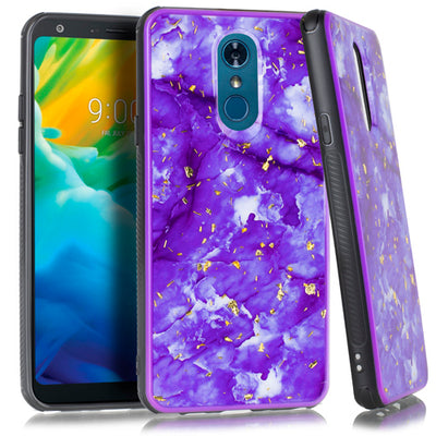 Marble Purple Flake Case Lg Stylo 4 - Bling Cases.com