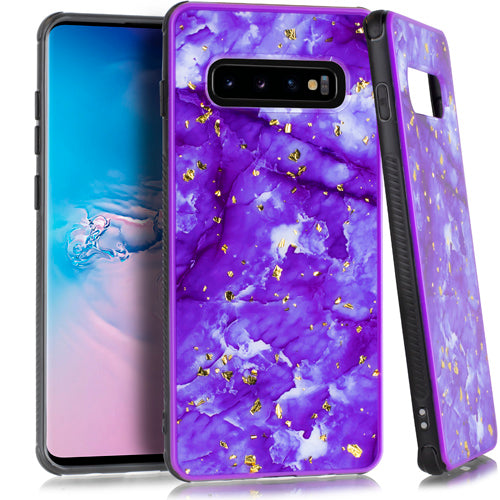 Marble Flake Purple Case Samsung S10 - Bling Cases.com