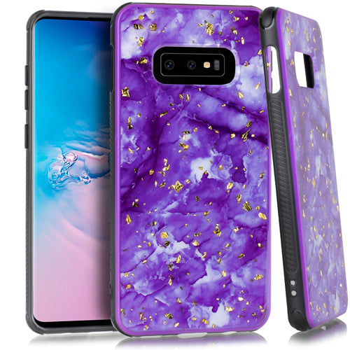 Marble Flake Purple Case Samsung S10E - Bling Cases.com