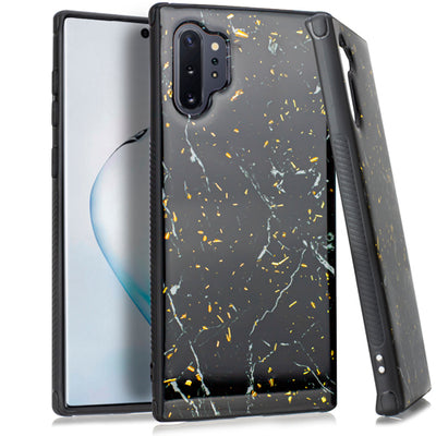 Marble Black Flake Case Note 10 Plus - Bling Cases.com