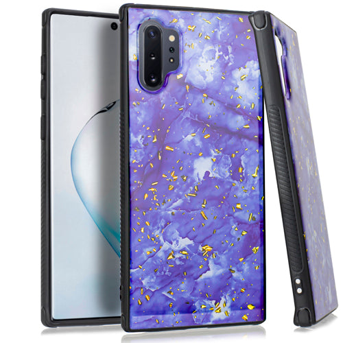 Marble Purple Flake Case Note 10 Plus - Bling Cases.com