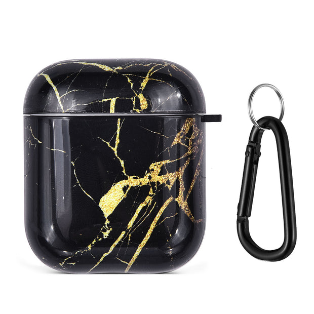 Black Gold Marble Airpods 1/2 - Bling Cases.com