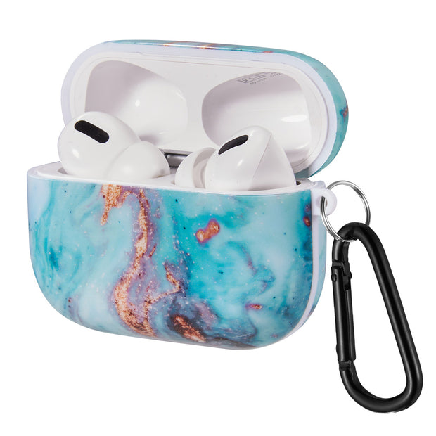 Marble Aqua Blue Airpods Pro - Bling Cases.com