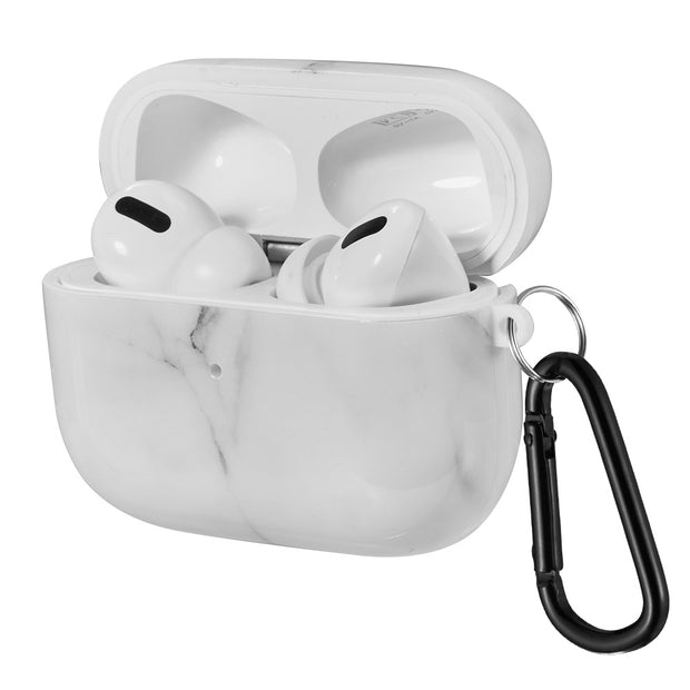 White Marble Airpods Pro - Bling Cases.com