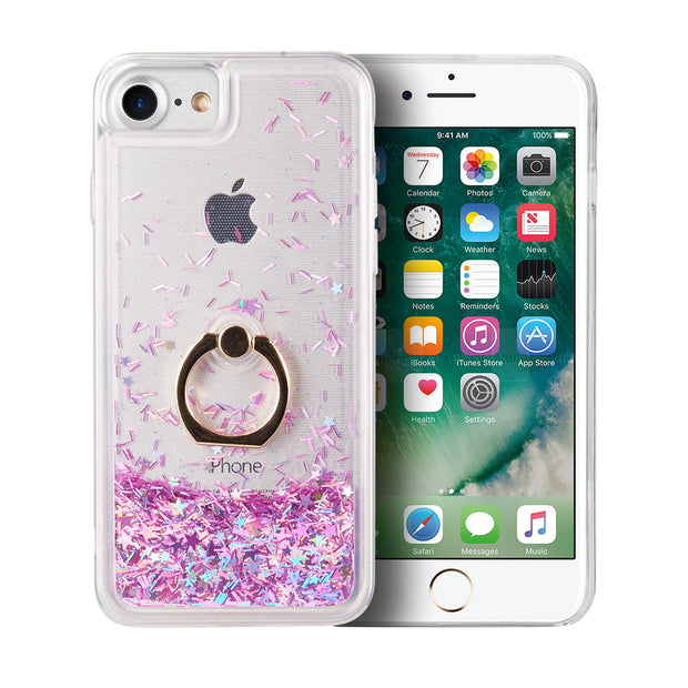 Liquid Ring Purple Case Iphone SE 2020 - Bling Cases.com