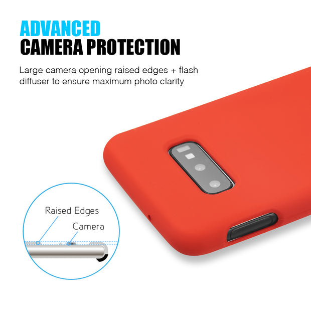 Silicone Skin Red Samsung S10E - Bling Cases.com