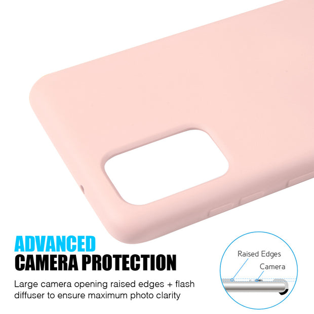 Silicone Skin Pink Samsung S20 - Bling Cases.com